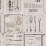 Toile coton grise cuisine anglaise