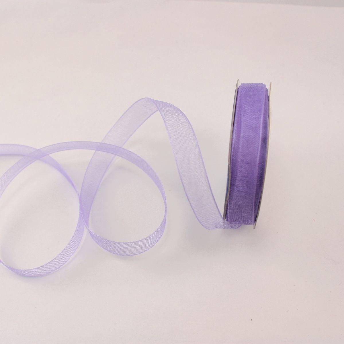 Ruban organdi en bobine lavande 9 mm