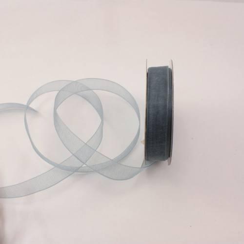 Ruban organdi en bobine gris 9 mm