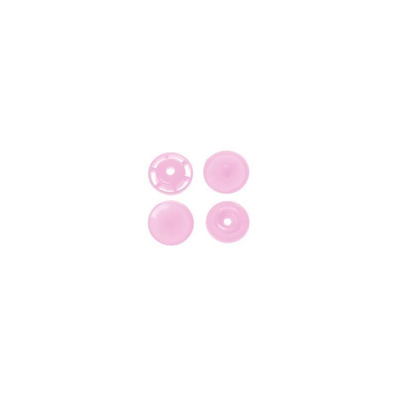 Boite de boutons-pression ronds en résine Color snaps fuchsia