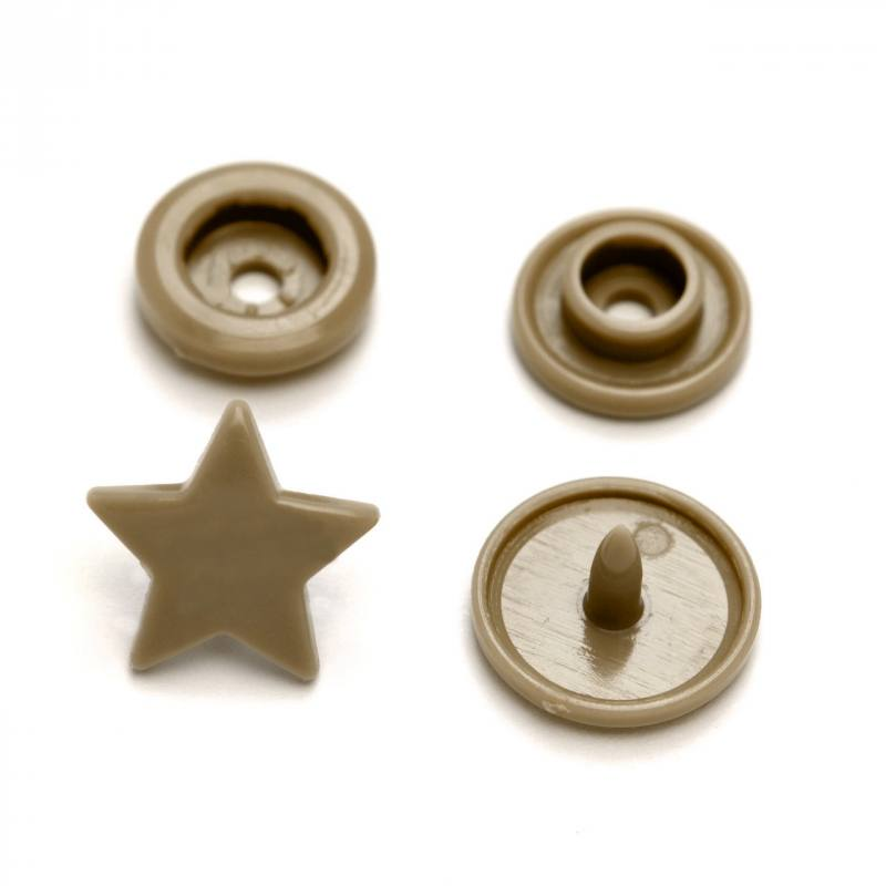 Boite de boutons-pression étoile en résine Color snaps gris
