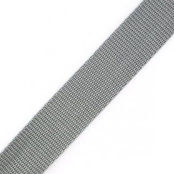 Sangle grise argentée 25 mm
