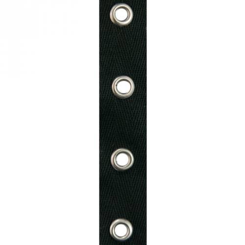Bande à œillets coton noir