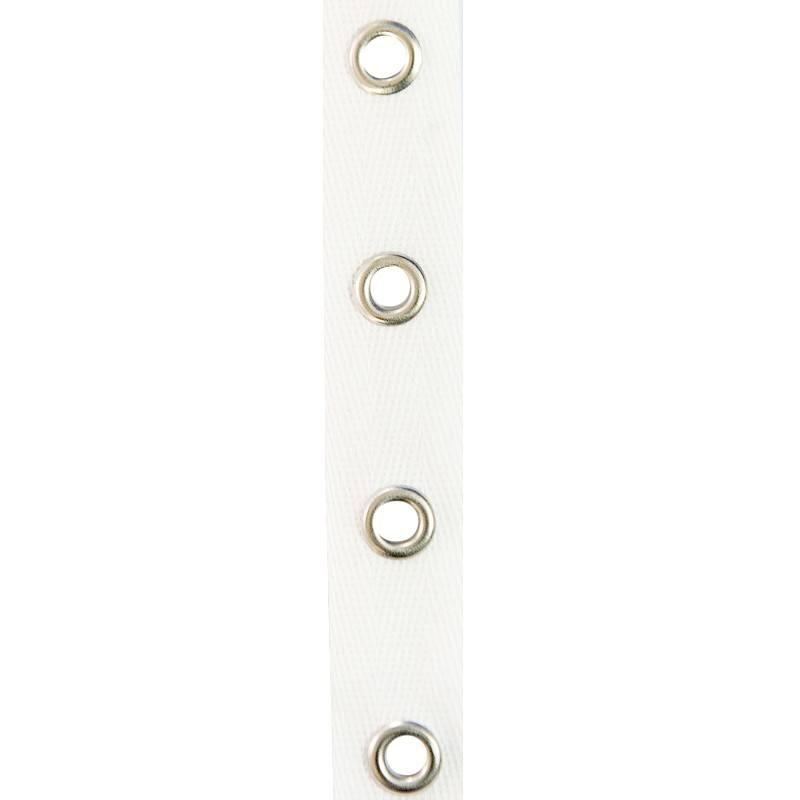 bande 224 œillets coton blanche tissus price