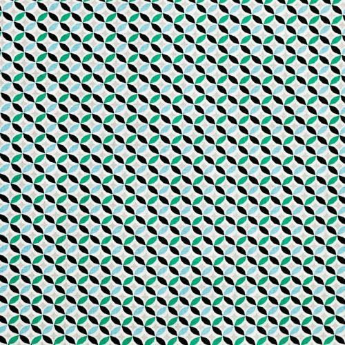 Coton cercle vert