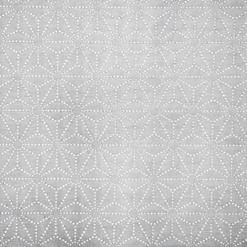 Simili cuir argent motif asanoha strass