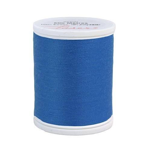 Fil à coudre polyester 500m bleu 2216