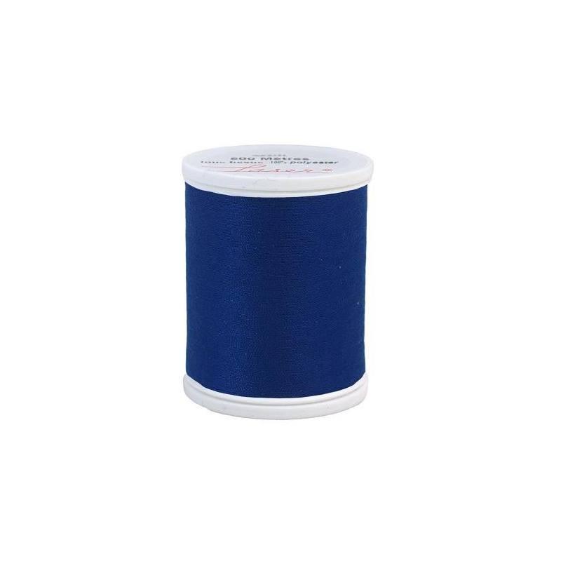 Fil à coudre polyester bleu 2216