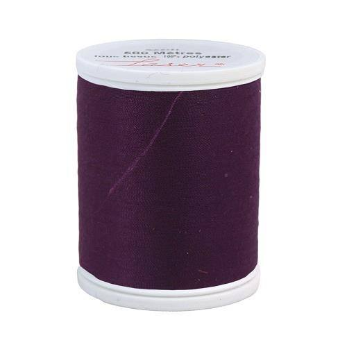 Fil à coudre polyester 500m prune 2322