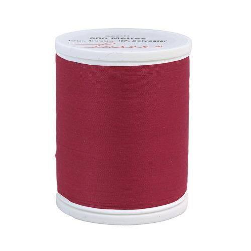 Fil à coudre polyester 500m framboise 2420