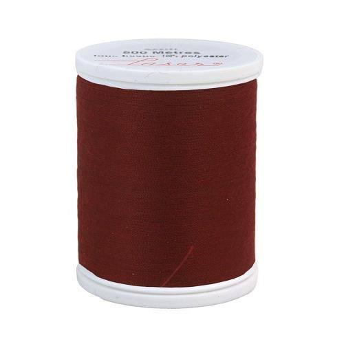 Fil à coudre polyester 500m bordeaux 2502