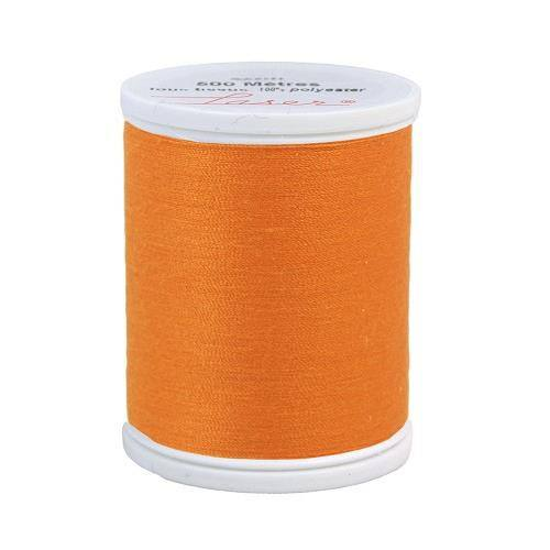Fil à coudre polyester 500m orange 2608
