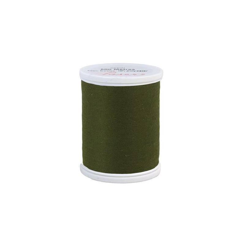 Fil à coudre polyester vert kaki 2740