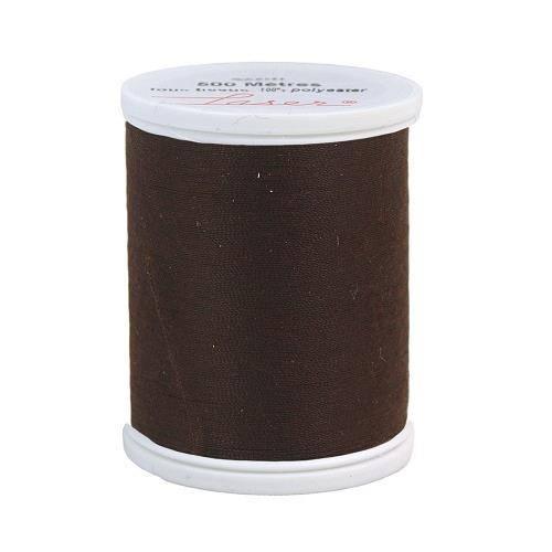 Fil à coudre polyester 500m marron foncé 2870