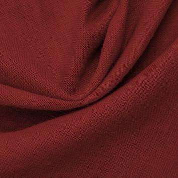 Toile de jute rouge