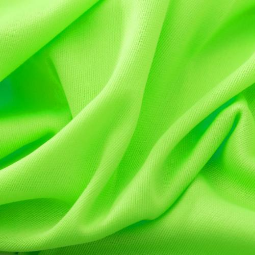 Maille extensible unie vert fluo