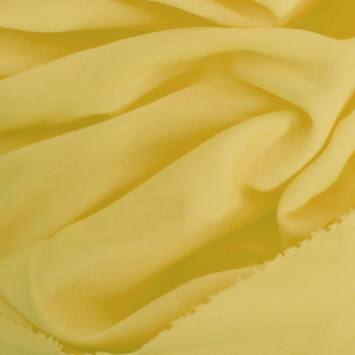 Maille extensible unie jaune