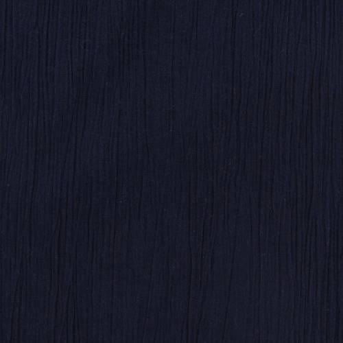 Mousseline crépon bleue marine