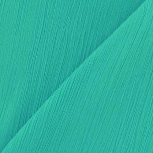 Mousseline crépon vert d'eau