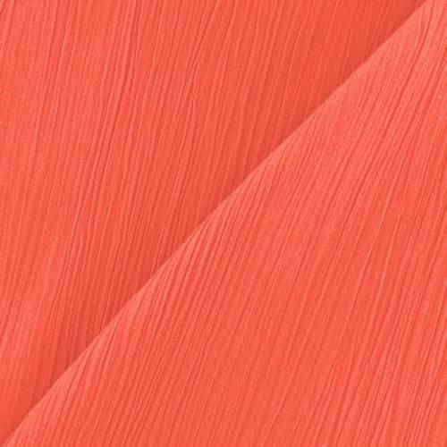 Mousseline crépon corail