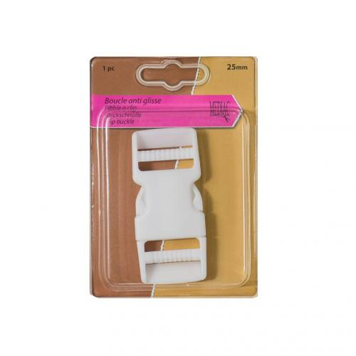 Boucle anti-glisse blanche taille 25 mm