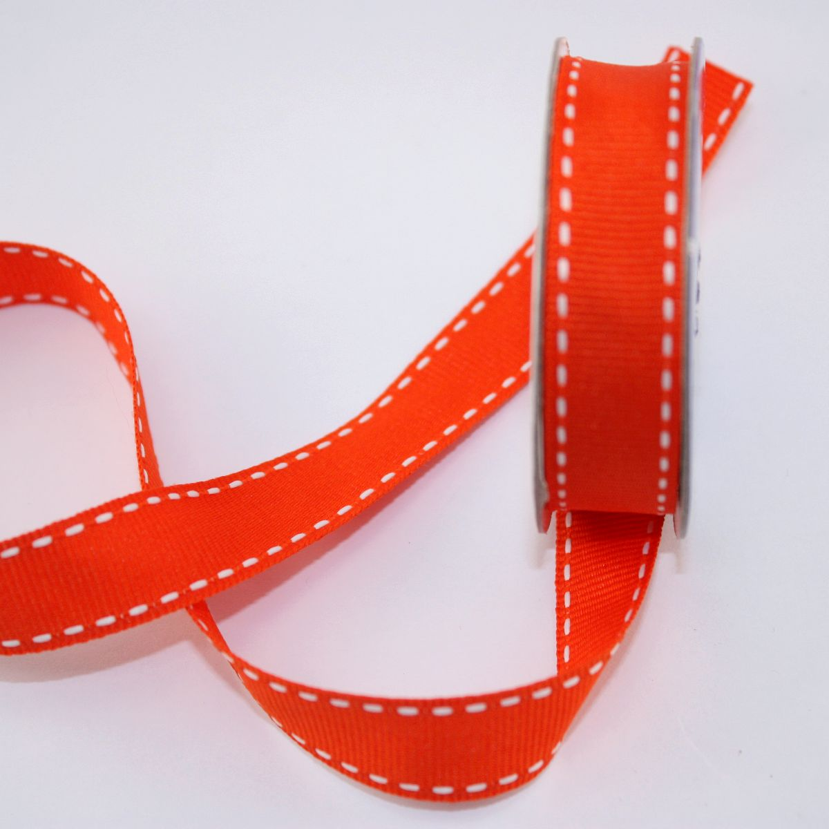 Ruban en bobine orange 15 mm