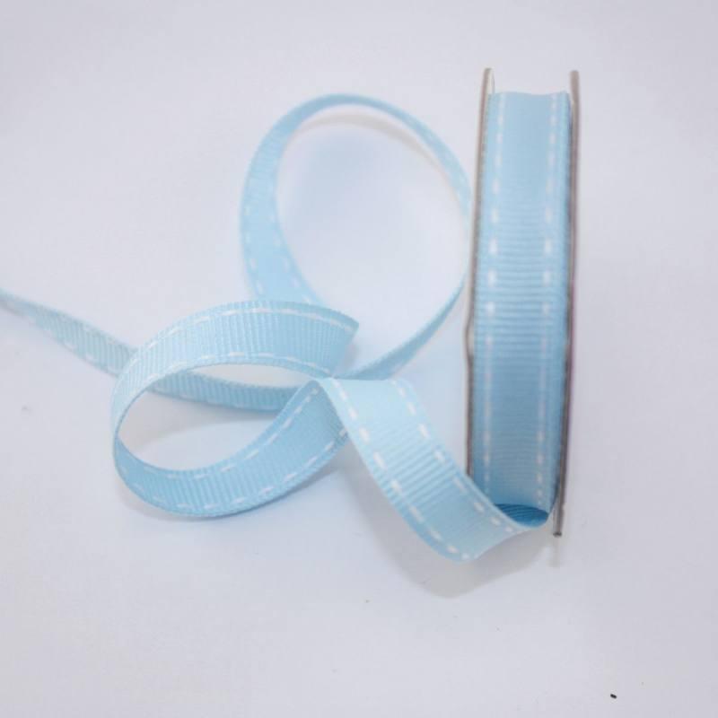 Ruban en bobine bleu ciel 9 mm