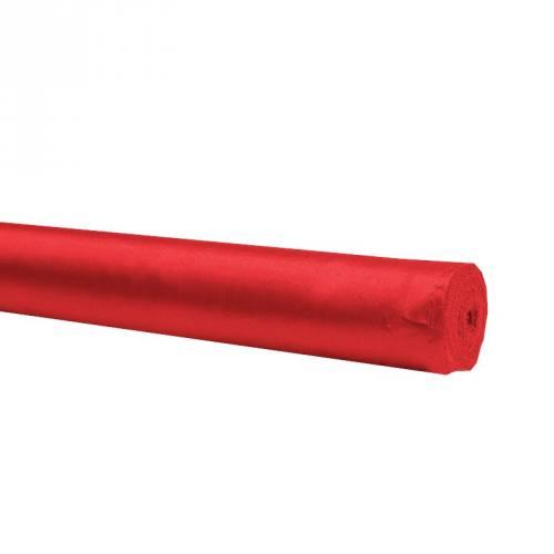 Rouleau 30m satin uni rouge 110cm