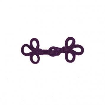 Brandebourg 5,5 cm noeuds violets