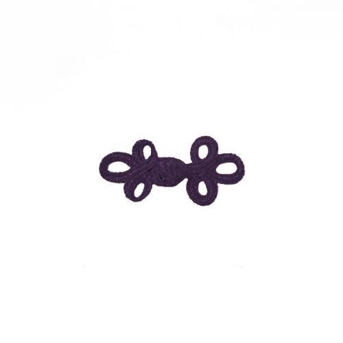 Brandebourg 3,5 cm noeuds violets