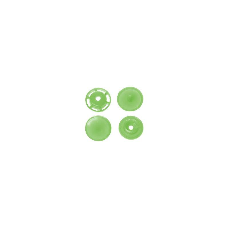 Boite de boutons-pression ronds en résine Color snaps vert pomme