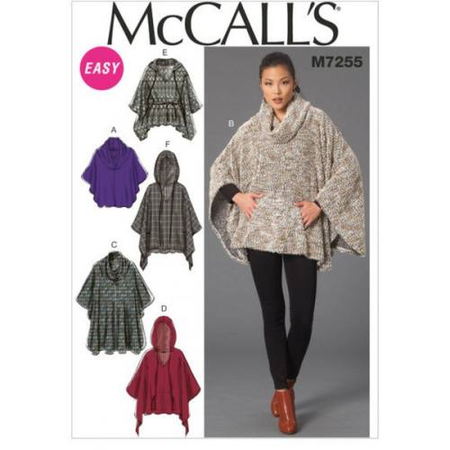 Patron Mc Call's M7255 : Poncho Taille: 34-42