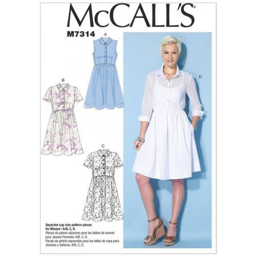 Patron Mc Call's M7314: Robe Taille: 42-50