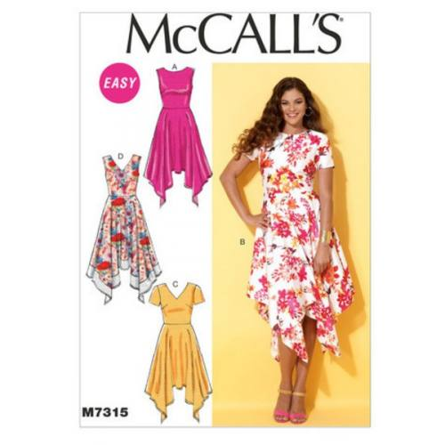 Patron Mc Call's M7315: Robe Taille: 34-42
