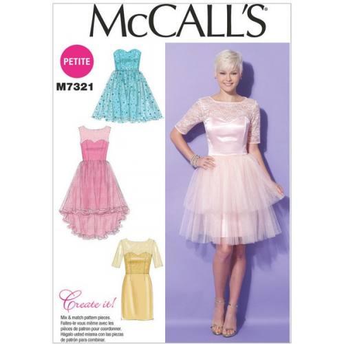 Patron Mc Call's M7321: Robe Taille: 42-50