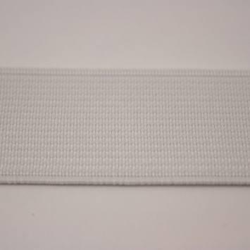 Elastique cotelé blanc 25 mm