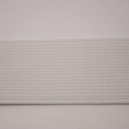 Elastique cotelé blanc 30 mm