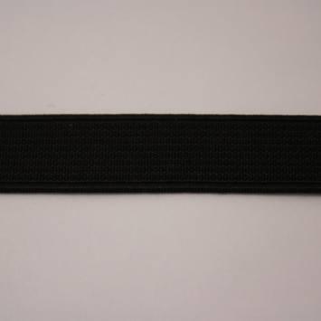 Elastique cotelé noir 15 mm
