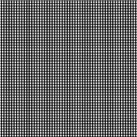 Coton vichy noir 3 mm