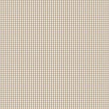 Coton vichy beige 3 mm