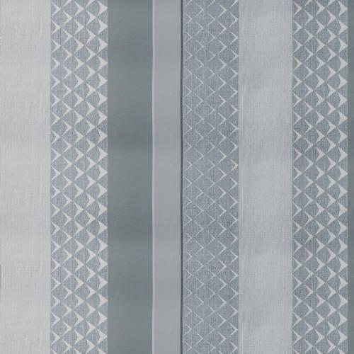 Tissu occultant imprimé scandinave gris perle