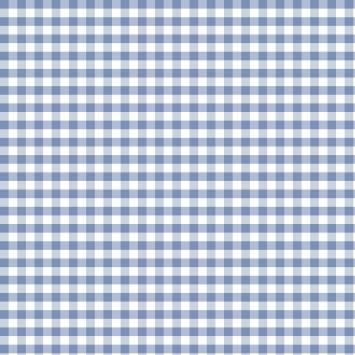 Coton vichy bleu serenity 10 mm