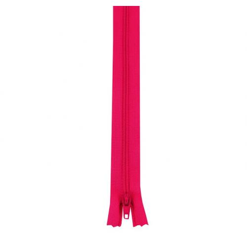 Fermeture polyester 60 cm non séparable fuchsia col 112