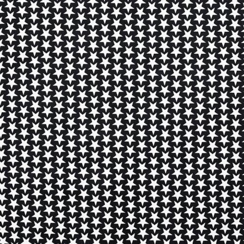 Coton étoiles monroe noir