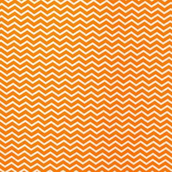 Coton chevron orange