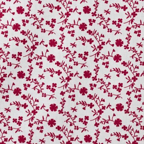Coton fleurs margneg bordeaux