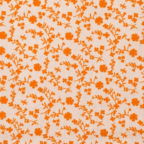 Coton fleurs margneg orange
