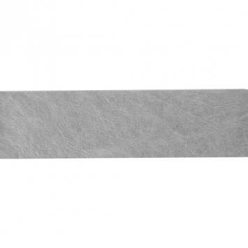 Ruban simili cuir argent 40 mm