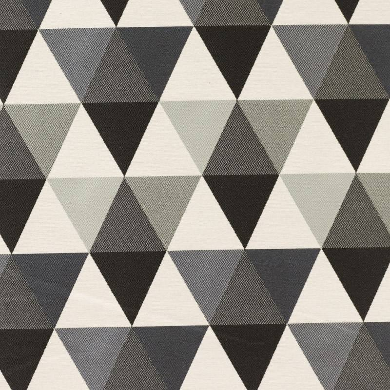 Jacquard triangles gris