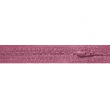 Fermeture à glissière au mètre vieux rose